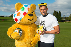 Gavin Henson of Bristol Rugby shows his support to Pudsey and Children in Need    - Photo mandatory by-line: Joe Meredith/JMP - Mobile: 07966 386802 - 14/10/2015 - SPORT - Rugby - Bristol - Bristol Rugby Training Ground - Bristol Rugby Children In Need