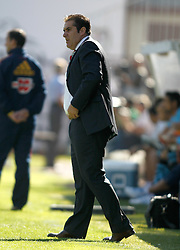 16.10.2011, Teresa Rivero Stadion, Madrid, ESP, Primera Division, Rayo Vallecano vs Espanyol Barcelona, im Bild Rayo Vallecano's coach Jose Ramon Sandoval // during Primera Division football match between Rayo Vallecano and Espanyol Barcelona at Teresa Rivero Stadium, Madrid, Spain on 16/10/2011. EXPA Pictures © 2011, PhotoCredit: EXPA/ Alterphoto/ Alvaro Hernandez +++++ ATTENTION - OUT OF SPAIN/(ESP) +++++