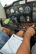 Pilot performs preflight checklist