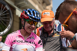 Race winner, Megan Guarnier after the final stage of the Giro Rosa 2016 on 10th July 2016. A 104km road race starting and finishing in Verbania, Italy.