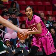 25 February 2017: The San Diego State Aztec's women's basketball team hosts Colorado State in their annual Play4Kay day. The Rams beat the Aztecs ##-##. www.sdsuaztecphotos.com