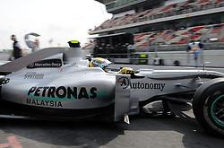 07.05.2010, Circuit de Catalunya, Barcelona, ESP, Formula One Championship, GP of Spain, im Bild Nico Rosberg (GER), Mercedes GP .EXPA Pictures © 2010, PhotoCredit: EXPA/ InsideFoto/ Hasan Bratic / SPORTIDA PHOTO AGENCY