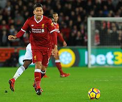 Roberto Firmino of Liverpool in action- Mandatory by-line: Nizaam Jones/JMP - 22/01/2018 - FOOTBALL - Liberty Stadium- Swansea, Wales - Swansea City v Liverpool - Premier League