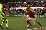 Nottingham Forest midfielder Ben Osborn holds possession during the Sky Bet Championship match between Nottingham Forest and Huddersfield Town at the City Ground, Nottingham, England on 13 February 2016. Photo by Aaron  Lupton.