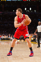 25 February 2011: Forward Blake Griffin of the Los Angeles Clippers looks to pass the ball against the Los Angeles Lakers during the first half of the Lakers 108-95 victory over the Clippers at the STAPLES Center in Los Angeles, CA.