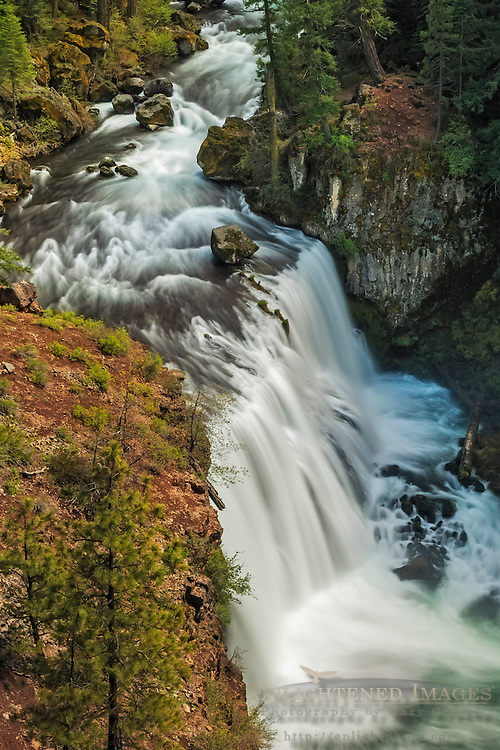 Middle McCloud Falls, McCloud River, Shasta - Trinity National Forest, Siskiyou County, California