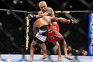 "ATLANTA, GEORGIA, SEPTEMBER 6, 2008: Ryo Chonan (facing) attempts to stop Roan Carneiro from taking him down during ""UFC 88: Breakthrough"" inside Philips Arena in Atlanta, Georgia on September 6, 2008"