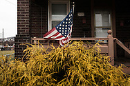 Braddock, Pennsylvania - An american flag outside a house in the town of Braddock in Pennsylvania.