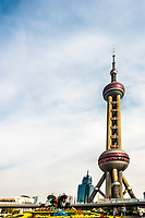 Oriental Pearl Tower skyscrapers building pudong Shanghai China
