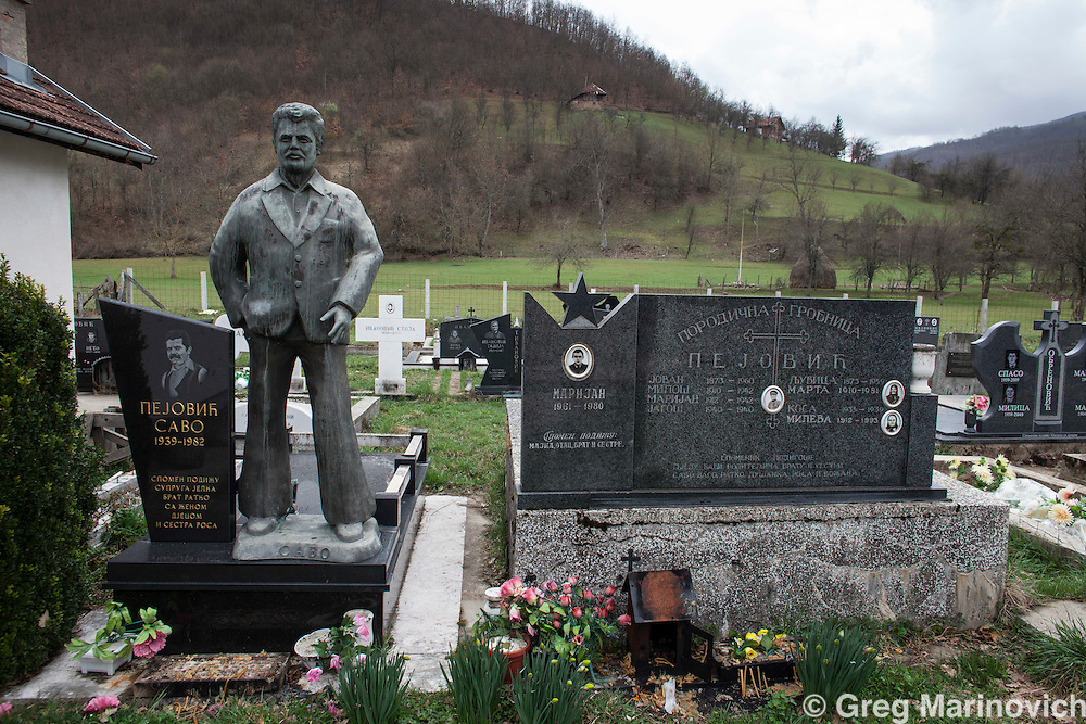 Bosnia and Herzegovina, Republika Srpska, Foca district, April 6, 2012.   A cemetery for both Moslems and Orthodox Christians above the river Drina.   Greg Marinovich