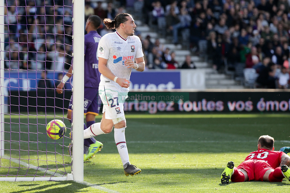 February 24, 2019 - Toulouse, France - 27 ENZO CRIVELLI (CAEN) - JOIE - BUT (Credit Image: © Panoramic via ZUMA Press)
