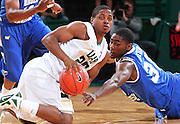 Dec 07, 2011; Birmingham, AL, USA;  Middle Tennessee Blue Raiders JT Sulton (30) goes for the ball as UAB guard Quincy Target (25) at Bartow Arena. The Blazers defeated the Blue Raiders 66-56 Mandatory Credit: Marvin Gentry-