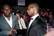 DIZEE RASCALL; TINIE TEMPAH, 2010 GLAMOUR AWARDS GIVEN BY GLAMOUR MAGAZINE. BERKELEY SQ. LONDON. 8 JUNE 2010. -DO NOT ARCHIVE-© Copyright Photograph by Dafydd Jones. 248 Clapham Rd. London SW9 0PZ. Tel 0207 820 0771. www.dafjones.com.