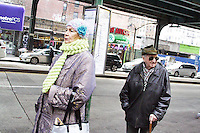 Waiting for bus Brighton Beach, Brooklyn by Star Nigro<br /> <br /> © 2019 All artwork is the property of STAR NIGRO.  Reproduction is strictly prohibited.