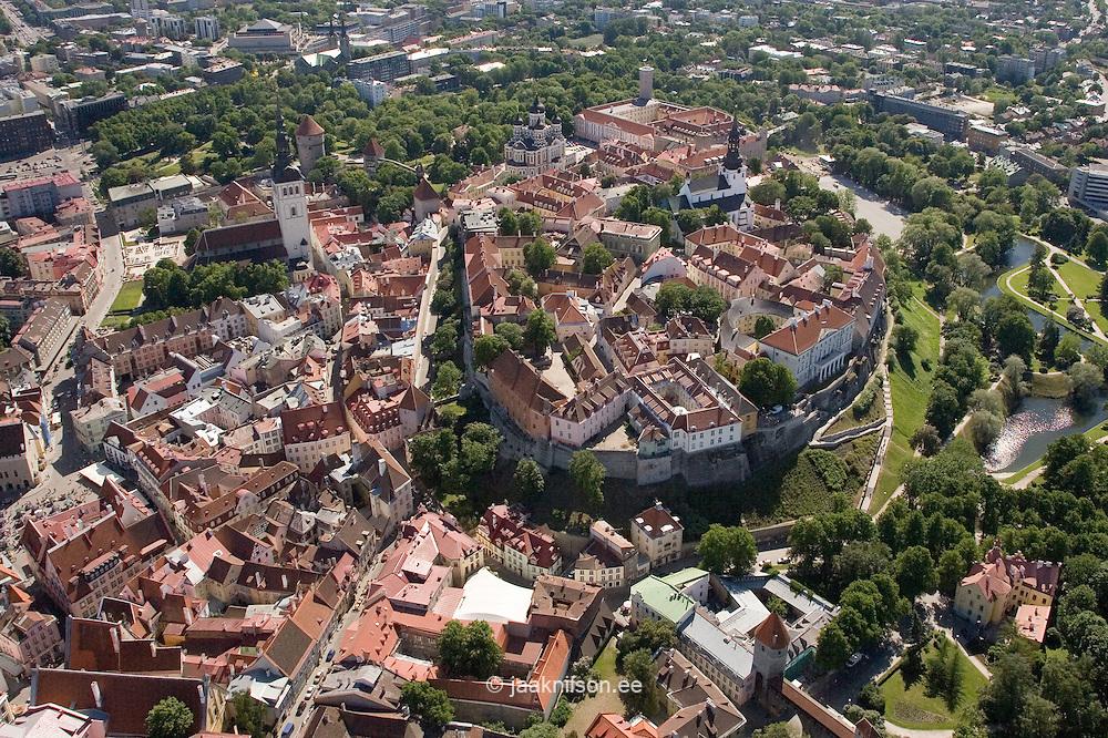 Aerial Picture of Old Medieval Tallinn, Estonia