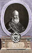 Antonius Perrenot, (1517-1586) born in Besancon, successively Bishop of Arras, Archbishop of Mechelen and the Cardinal Granvelle Minister of Charles V and Philip II, Council for the Regent Margaret of Parma (1559-1564).