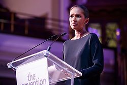 "© Licensed to London News Pictures. 12/05/2017. London, UK. GINA MILLER speaks on the impact of Brexit at ""The Convention on Brexit"" event at Westminster Central Hall in London on Friday, 12 May 2017. Photo credit: Tolga Akmen/LNP"