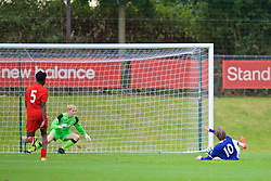 KIRKBY, ENGLAND - Saturday, September 24, 2016: Everton's Antony Evans scores the second goal against Liverpool to make the score 2-1 during the Under-18 FA Premier League match at the Kirkby Academy. (Pic by David Rawcliffe/Propaganda)