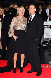 Emma Thompson with Tom Hanks at the World Premiere of 'Saving Mr Banks'. Odeon, London, United Kingdom. Sunday, 20th October 2013. Picture by Nils Jorgensen / i-Images