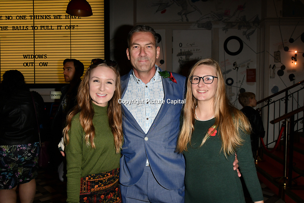 Jon Woodrow and his daughter arrivers at Eleven Film Premiere at Picture House Central, Piccadilly Circus on 10 November 2018, London, Uk.