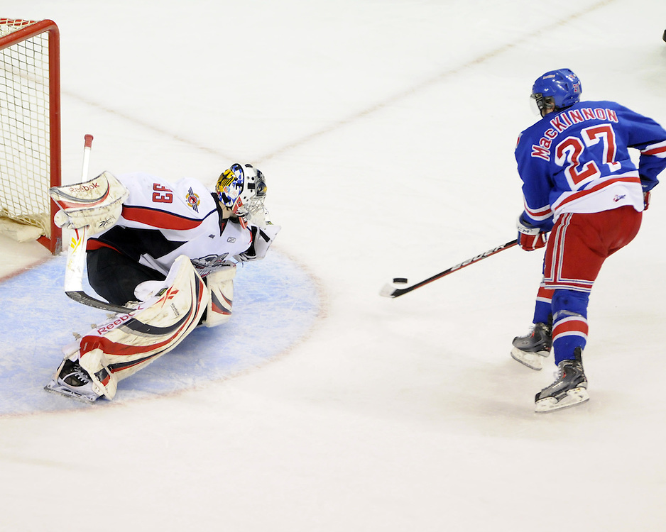Game 4 of the Rogers OHL Western Conference Championship Series in Kitchener on Tuesday. Photo by Aaron Bell/OHL Images