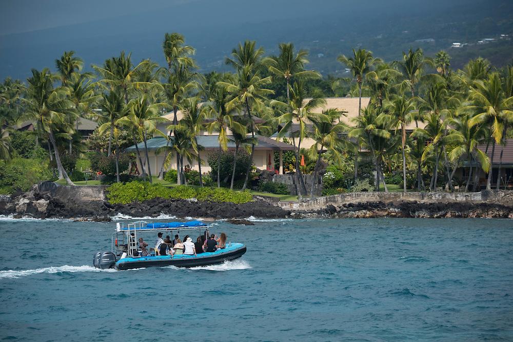 USA, Hawaii, Big Island ,  Kona  Coast, Keauhou Bay
