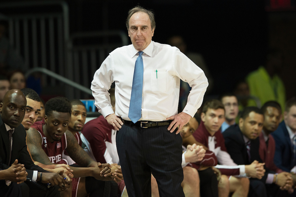 DALLAS, TX - FEBRUARY 19: Temple Owls head coach Fran Dunphy looks on against the SMU Mustangs on February 19, 2015 at Moody Coliseum in Dallas, Texas.  (Photo by Cooper Neill/Getty Images) *** Local Caption *** Fran Dunphy