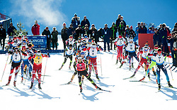 SVENDSEN Emil Hegle (NOR), FOURCADE Martin (FRA), SHIPULIN Anton (RUS) and other athletes compete during Men 15 km Mass Start at day 4 of IBU Biathlon World Cup 2014/2015 Pokljuka, on December 21, 2014 in Rudno polje, Pokljuka, Slovenia. Photo by Vid Ponikvar / Sportida