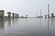 Parking garages near SU during a rainstorm