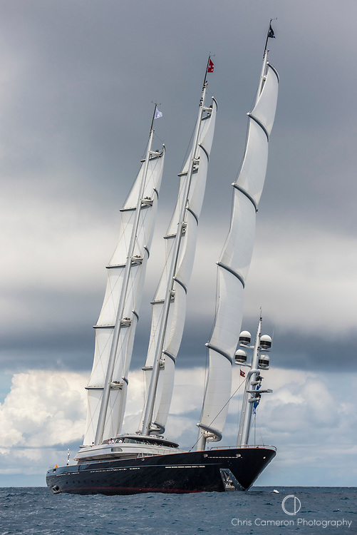 Bermuda, 13th June 2017. America's Cup Superyacht regatta. Race one. Maltese Falcon.