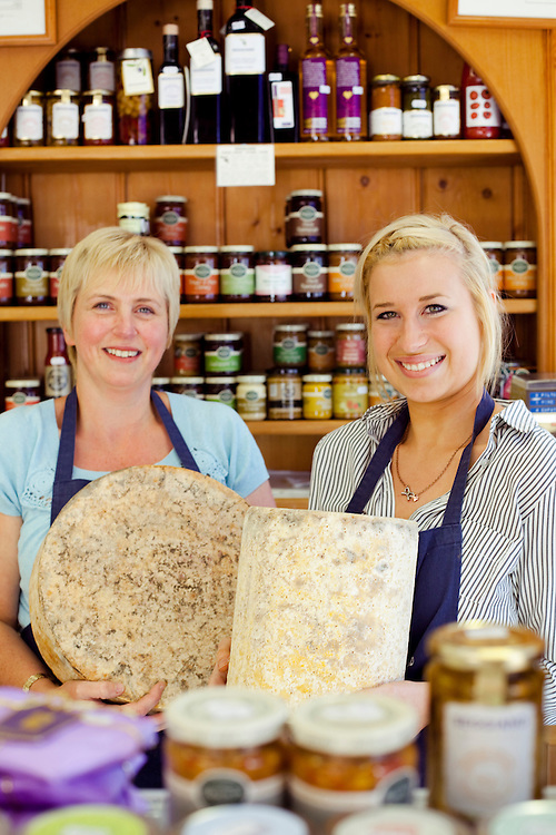 Lynn Brown (left) and her daughter Emma Brown in the Melton Cheeseboard. Melton Mowbray