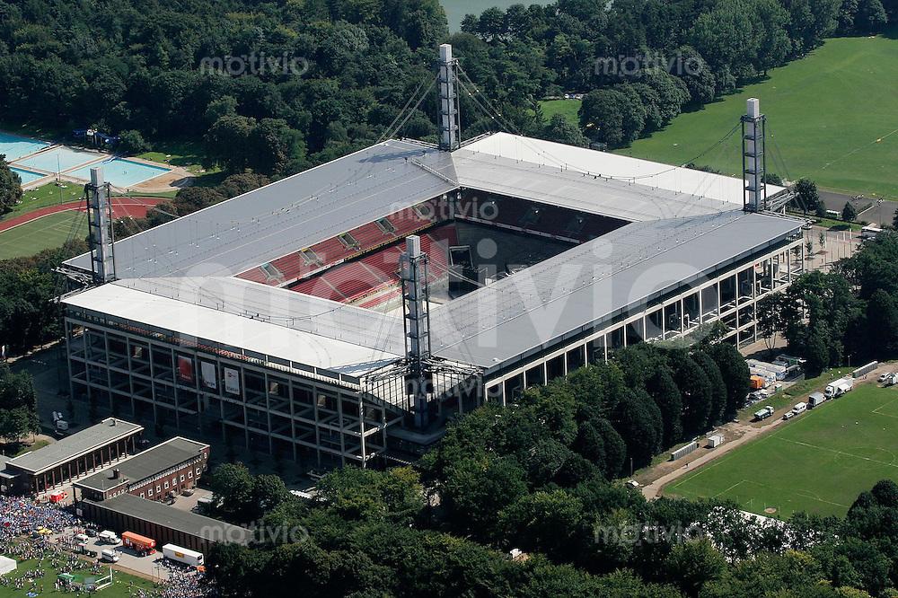 Fussball WM 2006 Stadion, Rhein Energie Stadion Koeln, Luftbild, Uebersicht