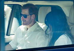 © Licensed to London News Pictures. 17/05/2018. Windsor, UK. Prince Harry and Meghan Markle arrive at Windsor Castle by car. Photo credit: LNP