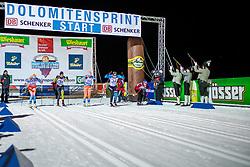 18.01.2019, Biathlonzentrum, Obertilliach, AUT, Dolomitenlauf, Dolomitensprint, im Bild v.l. Maria Graefnings (SEW), Seraina Boner (SUI), Tatjana Mannnima (EST), Constance Vulliet (FRA), Marie Caroline Godin (FRA) // during the sprint competition of the Dolomitenlauf at the Biathlonzentrum in Obertilliach, Austria on 2019/01/18. EXPA Pictures © 2019, PhotoCredit: EXPA/ Dominik Angerer
