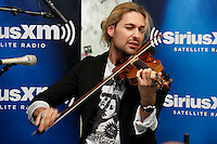 David Garrett performs at the studios of SiriusXM Satellite Radio in New York on June 6, 2012..Photo Credit ; Rahav Iggy Segev / Photopass.com
