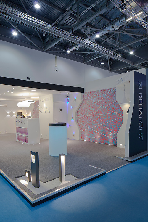 deltalight. ecobuild. lighting. exhibition stand.
