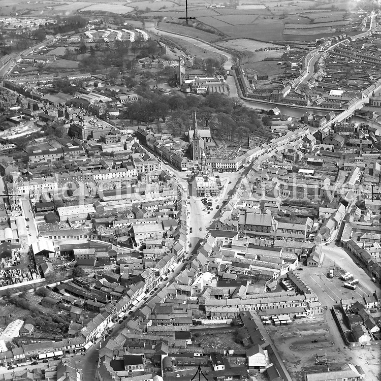 A266 Lisburn.   26/06/53. (Part of the Independent Newspapers Ireland/NLI collection.)<br /> <br /> <br /> These aerial views of Ireland from the Morgan Collection were taken during the mid-1950's, comprising medium and low altitude black-and-white birds-eye views of places and events, many of which were commissioned by clients. From 1951 to 1958 a different aerial picture was published each Friday in the Irish Independent in a series called, 'Views from the Air'.
