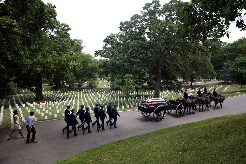 Lt. Col. Charles Parker was buried at Arlington National Cemetery on Thursday, July 10, 2008.