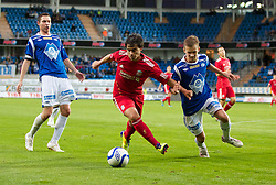 MOLDE, NORWAY - Wednesday, September 7, 2011: Liverpool's 'Suso' Jesus Fernandez Saez in action against Molde during the second NextGen Series Group 2 match at Aker Stadion. (Photo by Vegard Grott/Propaganda)
