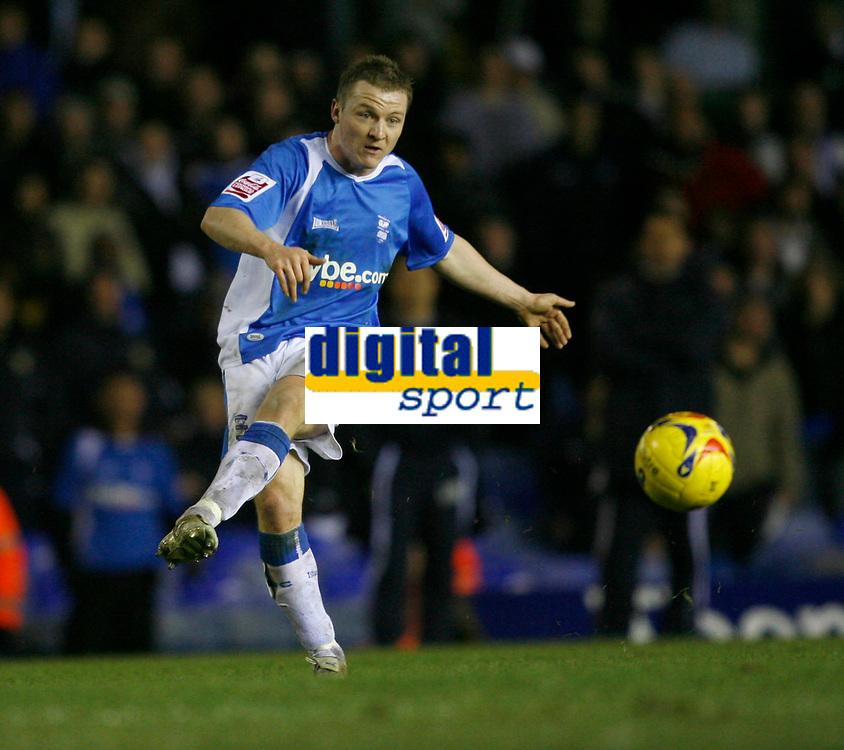 Birmingham's Gary McShaffrey spreads the ball wide