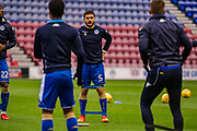 Wigan Sam Morsy (Captain) (5) warming up during the EFL Sky Bet League 1 match between Wigan Athletic and Fleetwood Town at the DW Stadium, Wigan, England on 9 December 2017. Photo by Michał Karpiczenko.
