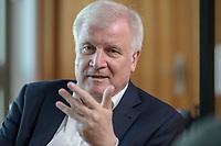 01 JUL 2019, BERLIN/GERMANY:<br /> Horst Seehofer, CSU, Bundesinnenminister, waehrend einem Interview, in seinem Buero, Bundesministerium des Inneren<br /> IMAGE: 20190701-01-058<br /> KEYWORDS: Büro