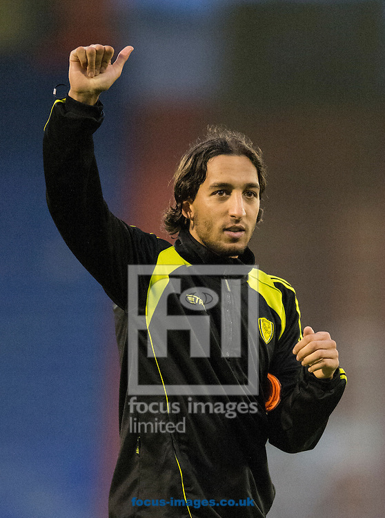 Match winner Abdenasser El Khayati of Burton Albion acknowledges his team's travelling support following the Sky Bet League 1 match at Boundary Park, Oldham<br /> Picture by Russell Hart/Focus Images Ltd 07791 688 420<br /> 31/10/2015