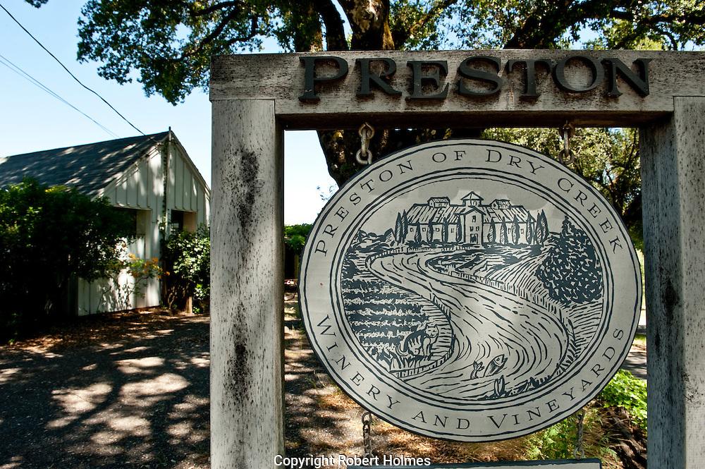 Preston Vineyards, Dry Creek, Sonoma County