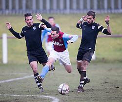 Whitehill Welfare Steven Manson.<br /> Whitehill Welfare 2 v 1 Edusport Academy, South Challenge Cup Quarter Final played 7/3/2015 at Ferguson Park, Carnethie Street, Rosewell.
