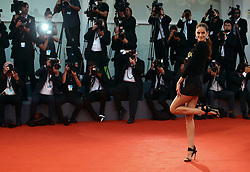 Izabel Goulart  walks the red carpet ahead of the 'The Shape Of Water' screening during the 74th Venice Film Festival in Venice, Italy, on August 31, 2017. (Photo by Matteo Chinellato/NurPhoto/Sipa USA)