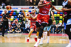 Jordan Nicholls of Bristol Flyers in action as Bristol Flyers play Surrey Sharks - Rogan/JMP - 14/10/2018 - BASKETBALL - Copper Box Arena - London, England - British Basketball All-Stars Championship 2018.
