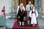 17-5-2016 asker Skaugum NORWAY National Feast day King Harald, Queen Sonja, Crownprince Haakon, Crownprincess Mette-Marit, Princess Ingrid Alexandra, Prince Sverre Magnus of Norway celebrate the National Day at the Royal Palace in Oslo, Norway, 17 May . and Marius Borg Hoiby and dog Milly celebrating the national day at the residence in Skaugum, Norway. COPYRIGHT ROBIN UTRECHT<br /> 17-5-2016 Asker Skaugum NOORWEGEN Nationale Feestdag Koning Harald, koningin Sonja, kroonprins Haakon, Crownprincess Mette-Marit, Prinses Ingrid Alexandra, prins Sverre Magnus van Noorwegen te vieren de Nationale Dag in het Koninklijk Paleis in Oslo, Noorwegen, 17 mei. en Marius Borg Hoiby en hond Milly vieren van de nationale dag van het verblijf in Skaugum, Noorwegen. COPYRIGHT ROBIN UTRECHT