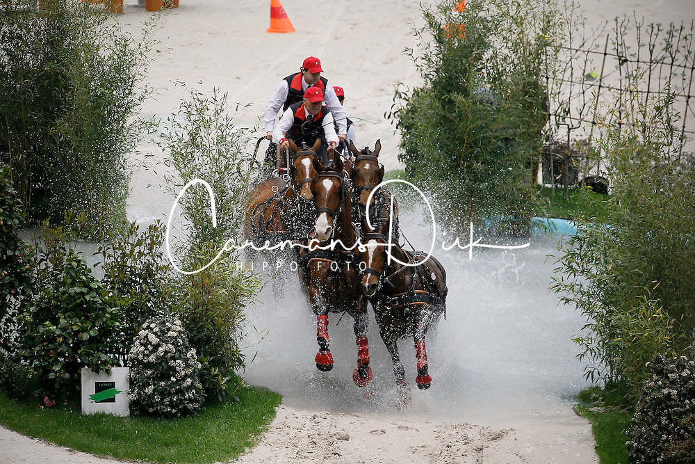 Ulrich Werner, (SUI), Mikado N, Natberry, Xacal, Urban IX CH<br /> FEI World Cup Driving Final Geneve 2010<br /> &copy; Hippo Foto - Dirk Caremans