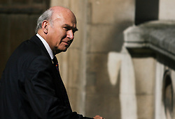 © Licensed to London News Pictures. 28/05/2012. London,Britain.Vince Cable arrives at the Leveson Inquiry in the Royal Courts of Justice. Photo credit : Thomas Campean/LNP..